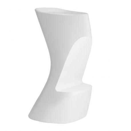 Tabouret de bar Moma High, hauteur d'assise 74 cm, Vondom blanc