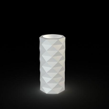Pot de Jardin Marquis lumineux Leds blancs diamètre 25 cm x hauteur 53 cm, Vondom