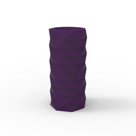 Pot de Jardin Marquis diamètre 25 cm x hauteur 53 cm, Vondom Violet Prune Mat