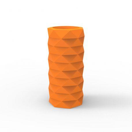 Pot de Jardin Marquis diamètre 25 cm x hauteur 53 cm, Vondom Orange Mat