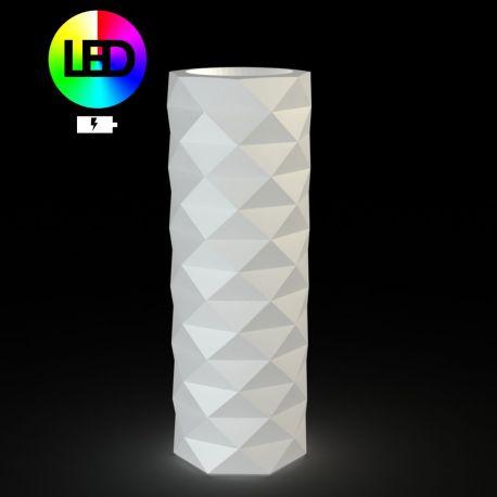 Pot diamant Marquis lumineux Leds RGBW diamètre 30 cm x hauteur 82 cm, Vondom