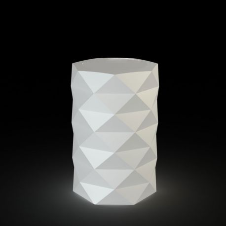 Pot de Jardin Marquis lumineux Leds blancs diamètre 40 cm x hauteur 60 cm, Vondom