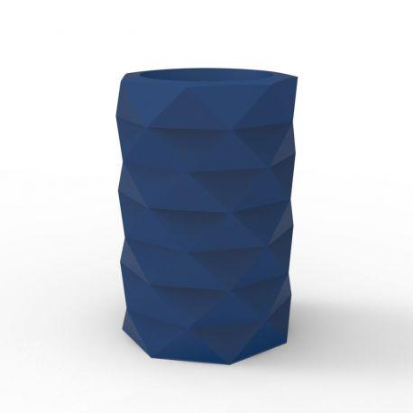 Pot de Jardin Marquis diamètre 40 cm x hauteur 60 cm, Vondom bleu marine Mat