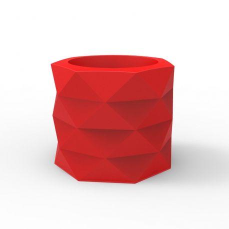 Pot de Jardin Marquis diamètre 60 cm x hauteur 50 cm, Vondom Rouge Mat
