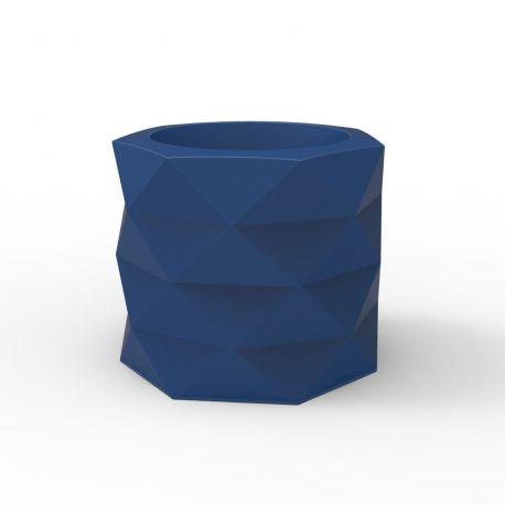 Pot de Jardin Marquis diamètre 60 cm x hauteur 50 cm, Vondom Bleu Marine Mat