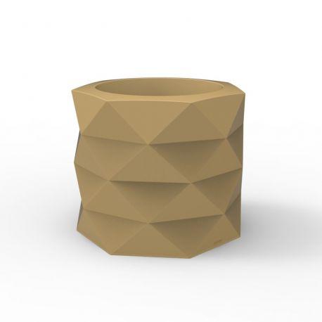 Pot de Jardin Marquis diamètre 60 cm x hauteur 50 cm, Vondom beige Mat