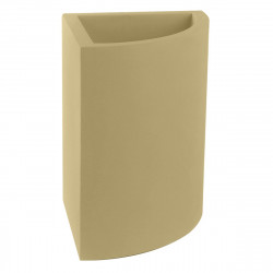 Pot d'angle Angular 39x39xH55 cm, simple paroi, Vondom beige
