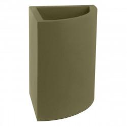 Pot d'angle Angular 50x39xH55 cm, simple paroi, Vondom kaki