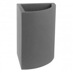Pot d'angle Angular 50x39xH55 cm, simple paroi, Vondom gris argent