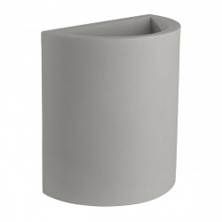 Pot demi Cylindre 50x29xH55 cm, simple paroi, Vondom gris argent