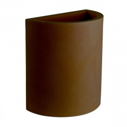 Pot demi Cylindre 50x29xH55 cm, simple paroi, Vondom bronze