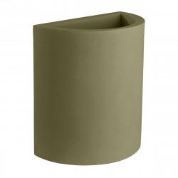 Pot demi Cylindre 50x29xH55 cm, simple paroi, Vondom vert kaki