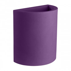 Pot demi Cylindre 50x29xH55 cm, simple paroi, Vondom violet prune