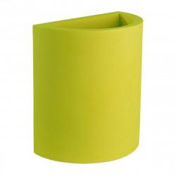Pot demi Cylindre 50x29xH55 cm, simple paroi, Vondom vert pistache