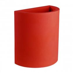 Pot demi Cylindre 50x29xH55 cm, simple paroi, Vondom rouge