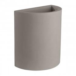 Pot demi Cylindre 50x29xH55 cm, simple paroi, Vondom taupe