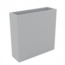 Bac à fleurs muret Wall 120x30xH80 cm, double paroi, Vondom gris argent
