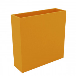 Bac à fleurs muret Wall 120x30xH80 cm, double paroi, Vondom orange