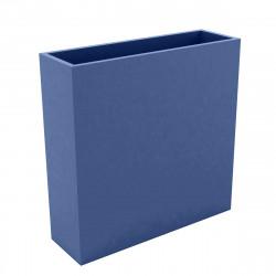Bac à fleurs muret Wall 120x30xH80 cm, double paroi, Vondom bleu marine