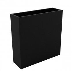 Bac à fleurs muret Wall 120x30xH80 cm, double paroi, Vondom noir