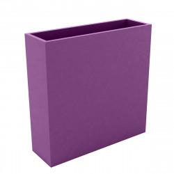 Bac à fleurs muret Wall 120x30xH80 cm, double paroi, Vondom violet prune
