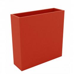 Bac à fleurs muret Wall 120x30xH80 cm, double paroi, Vondom rouge