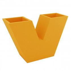 Pot de fleurs haut UVE, forme V 120x40xH80 cm, double paroi, Vondom orange