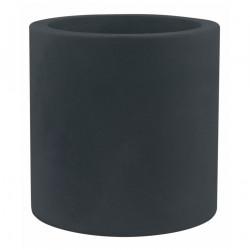 Très grand pot Cylindrique gris anthracite, simple paroi, Vondom, Diamètre 120 x Hauteur 100 cm