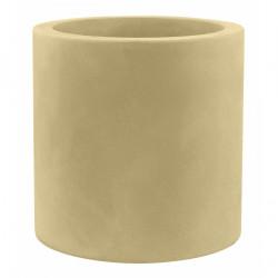 Très grand pot Cylindrique beige, simple paroi, Vondom, Diamètre 120 x Hauteur 100 cm