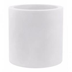 Très grand pot Cylindrique blanc, simple paroi, Vondom, Diamètre 120 x Hauteur 100 cm