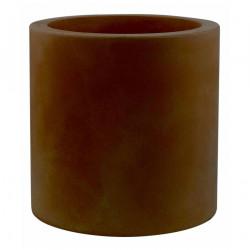 Très grand pot Cylindrique bronze, simple paroi, Vondom, Diamètre 120 x Hauteur 100 cm