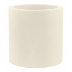 Très grand pot Cylindrique écru, simple paroi, Vondom, Diamètre 120 x Hauteur 100 cm