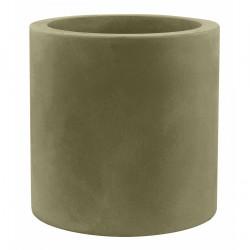 Très grand pot Cylindrique kaki, simple paroi, Vondom, Diamètre 120 x Hauteur 100 cm