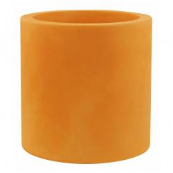 Très grand pot Cylindrique orange, simple paroi, Vondom, Diamètre 120 x Hauteur 100 cm