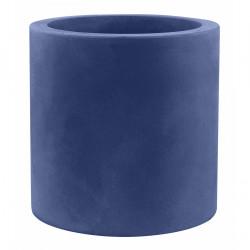 Très grand pot Cylindrique bleu marine, simple paroi, Vondom, Diamètre 120 x Hauteur 100 cm