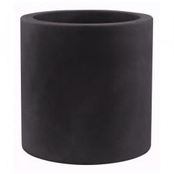 Très grand pot Cylindrique noir, simple paroi, Vondom, Diamètre 120 x Hauteur 100 cm