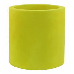 Très grand pot Cylindrique vert pistache, simple paroi, Vondom, Diamètre 120 x Hauteur 100 cm