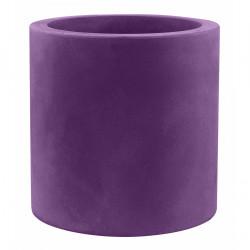Très grand pot Cylindrique violet prune, simple paroi, Vondom, Diamètre 120 x Hauteur 100 cm