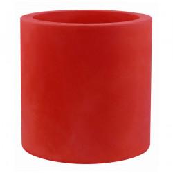Très grand pot Cylindrique rouge, simple paroi, Vondom, Diamètre 120 x Hauteur 100 cm