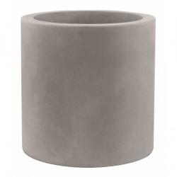 Très grand pot Cylindrique taupe, simple paroi, Vondom, Diamètre 120 x Hauteur 100 cm
