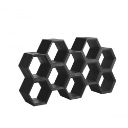 Etagère alvéoles nid d\'abeilles Honeycomb, noir