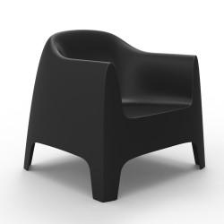 Fauteuil Lounge Solid, Vondom noir