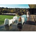Fauteuil Lounge Solid, Vondom blanc