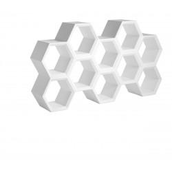 Etagère alvéoles nid d\'abeilles Hexa, blanc