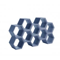Etagère alvéoles nid d'abeilles Hexa, bleu poudré
