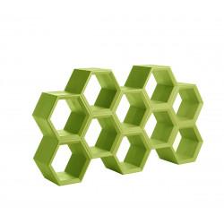 Etagère alvéoles nid d'abeilles Hexa, citron vert
