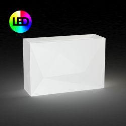 Jardinière haute Faz lumineuse à Leds RGBW, design à facettes 40x120x80cm, Vondom