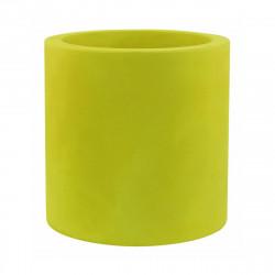 Grand pot Cylindrique vert pistache, simple paroi, Vondom, Diamètre 80 x Hauteur 80 cm