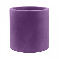 Grand pot Cylindrique violet prune, simple paroi, Vondom, Diamètre 80 x Hauteur 80 cm