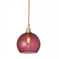 Suspension Rowan Rouge Rubis, diamètre 15,5 cm, Ebb & Flow, douille et câble dorés